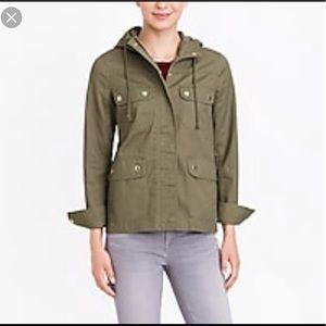 J Crew Resin coated Rain Jacket